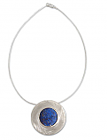 Sterling Silver and Lapis Lazuli Medallion with Chain