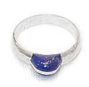 Grain Sterling Silver Lapis Lazuli Ring
