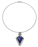 Sterling Silver and Lapis Lazuli Arrowhead Necklace
