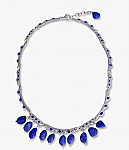 Sterling Silver and Lapis Lazuli Enchanted Drops Semi Collar