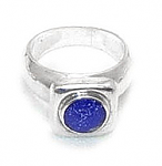 Squared Chevalier Sterling Silver Ring