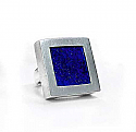 Sterling Silver and Lapis Lazuli Squared Channeling Ring