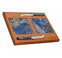 Double Lapis Lazuli and Oak Cheese Board