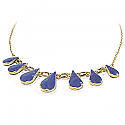 Lapis lazuli and 18K Gold Drops Semicollar