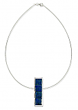 Sterling Silver and Lapis Lazuli Bar Necklace