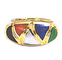 Combined Stone 18K Gold Ring