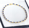 Lapis Lazuli and 18K Gold Hinge Necklace