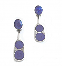 Sterling Silver and Lapis Lazuli Paddle Hanging Earrings