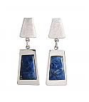 Sterling Silver and Lapis Lazuli Long Hanging Earrings