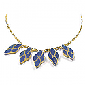 Lapis Lazuli and 18K Gold Garden Fantasy Semicollar
