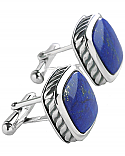 Sterling Silver Rope Cufflinks