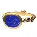 18K Gold Egyptian Lapis Lazuli Ring