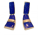 Lapis Lazuli and 18K Gold Hanging Earrings