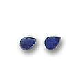 Mini, Single Stone Sterling Silver Post Earrings.