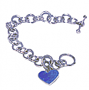Reversible Heart Charm Toggle Bracelet