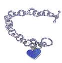 Reversible Heart Charm Toggle Bracelet