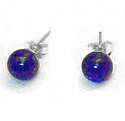 6 mm or 8 mm Sterling Silver Bead Post Earrings