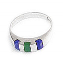 Three Stones Division Sterling Silver Ring