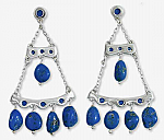 Lapis Lazuli Enchanted Chandelier Earrings