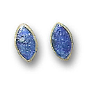 18K Gold Mini Marquise Single Stone Earrings