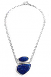 Lapis Lazuli and Sterling Silver Up & Down Necklace
