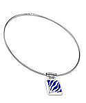 Sterling Silver and Lapis Lazuli Zebra Necklace