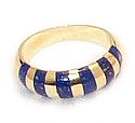 18K Gold Zebra Ring