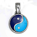 Medium Lapis Lazuli and Turquoise Yin Yang Charm