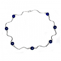 Lapis Lazuli Floating Beads Necklace