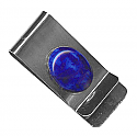 Sterling Silver and Lapis Lazuli Money Clip
