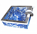 Lapis Lazuli Ashtrays with Silver Plated Accents