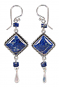 Lapis Lazuli Pagoda Hanging Earrings