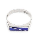 Fine Division Lapis Lazuli and Sterling Silver Ring