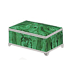 Special Order:  Malachite and Sterling Silver Box