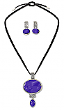 Sterling Silver and Lapis Lazuli Cord Set