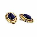 18K Gold and Lapis Lazuli Greco Earrings