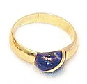 18K Gold Halfmoon Grain Ring