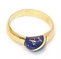 18K Gold Halfmoon Grain Ring