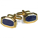 18K Gold and Lapis Lazuli Trapezoid Cuff links
