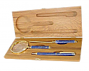 Gold Plated Pen, Magnifying Glass and Letter Opener Lapis Lazuli Set