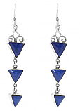Sterling Silver and Lapis Lazuli Cascade Earrings
