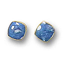18K Gold Mini Squared Post Earrings