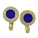 18K Gold Bvlgari Lapis Lazuli Earrings