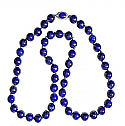 10 mm Lapis Lazuli Bead Necklace, 48 Inches L