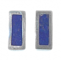 Rectangular Sterling Silver Post or Clip Earrings