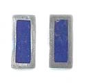 Rectangular Sterling Silver Post or Clip Earrings