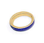 Extra Wide Lapis Lazuli and 18K Gold Cleo Band