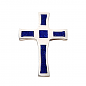 Sterling Silver and Lapis Lazuli Mosaic Cross