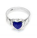 Medium Heart Shaped Sterling Silver Ring