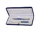 Gold Plated Lapis Lazuli Pen and Letter Opener Set